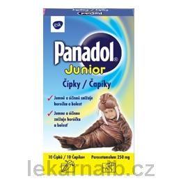 PANADOL Junior 250 mg 10 čípků cena od 42 Kč