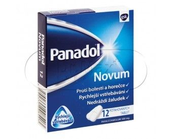 Panadol Novum 500 mg 12 tablet cena od 22 Kč