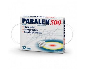 PARALEN 500 500 mg  12 tablet cena od 17 Kč