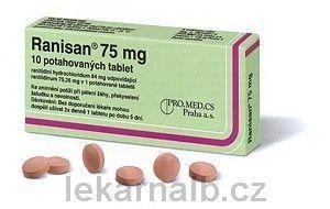 RANISAN 75 mg 10 tablet cena od 67 Kč