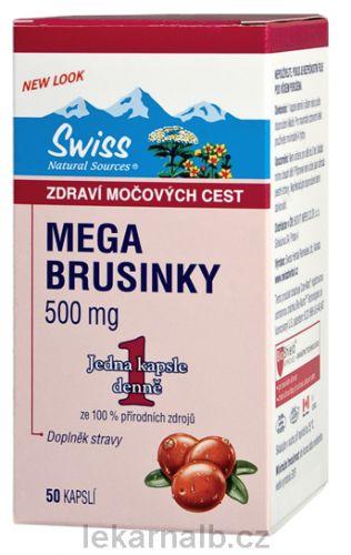 Swiss MEGA BRUSINKY 50 kapslí cena od 378 Kč