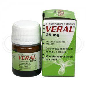 Veral 25 mg 30 tablet cena od 46 Kč