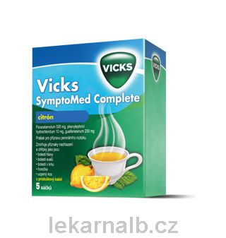 Vicks SymptoMed complete citrón 5 sáčků cena od 75 Kč