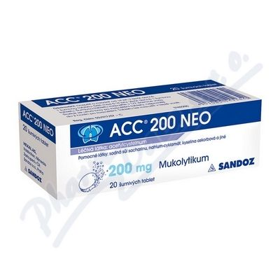 ACC 200 NEO 200 mg 20 tablet cena od 65 Kč