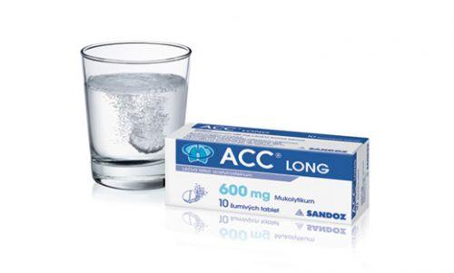 ACC LONG 600 mg 10 tablet cena od 96 Kč