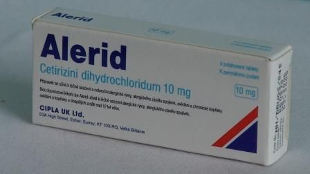ALERID 10 mg 10 tablet cena od 34 Kč
