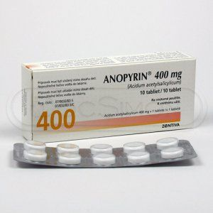 Anopyrin 400 mg 10 tablet cena od 16 Kč
