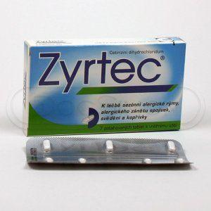 Zyrtec 10 mg 7 tablet cena od 94 Kč