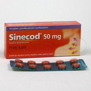 Sinecod 50 mg 10 tablet cena od 109 Kč