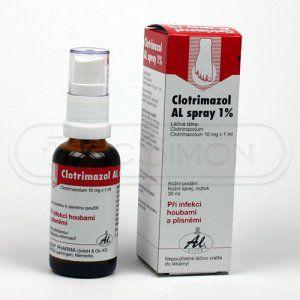 Clotrimazol AL Sprej 1 % 30 ml cena od 67 Kč