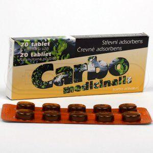 CARBO MEDICINALIS 300 mg 20 tablet cena od 0 Kč