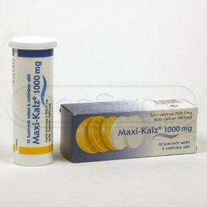 Maxi-Kalz 1000 mg 10 tablet cena od 48 Kč