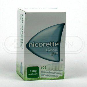 NICORETTE CLASSIC žvýkačky 4 mg 105 ks cena od 608 Kč