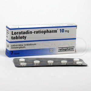 Loratadin-ratiopharm 10 mg 7 tablet cena od 57 Kč