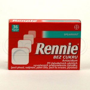 Rennie Spearmint bez cukru 36 tablet
