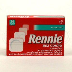 Rennie Spearmint bez cukru 36 tablet cena od 75 Kč