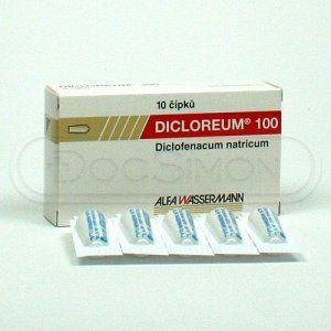 Dicloreum 100 mg 10 čípků cena od 108 Kč
