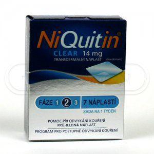 Niquitin Clear náplast 14 mg cena od 384 Kč