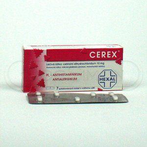 Cerex 10 mg 7 tablet cena od 0 Kč