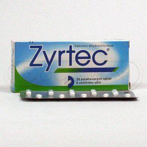Zyrtec 10 mg 20 tablet cena od 135 Kč