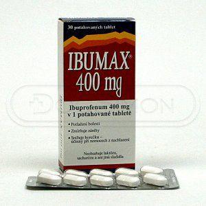 Ibumax 400 mg 30 tablet cena od 31 Kč