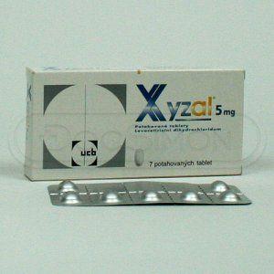 Xyzal 5 mg 7 tablet cena od 71 Kč