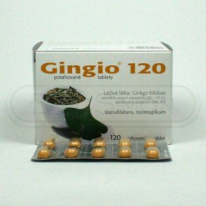 Gingio 120 mg 120 tablet cena od 1165 Kč