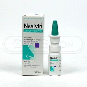 Nasivin Sensitive 0.025 % sprej 10 ml cena od 69 Kč