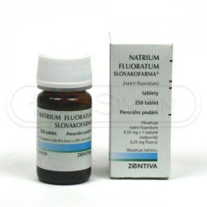 Natrium Fluoratum 0.55 mg 250 tablet cena od 89 Kč