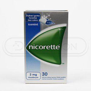 NICORETTE ICEMINT žvýkačky 2 mg 30 kusů cena od 195 Kč
