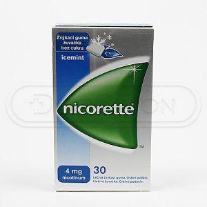 NICORETTE ICEMINT žvýkačky 4 mg 30 kusů cena od 204 Kč
