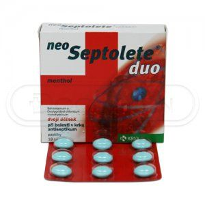 NEOSEPTOLETE DUO menthol 18 tablet cena od 0 Kč