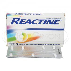 Reactine 10 mg 7 tablet cena od 50 Kč