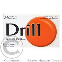 DRILL RŮŽOVÝ MED 24 pastilek cena od 102 Kč