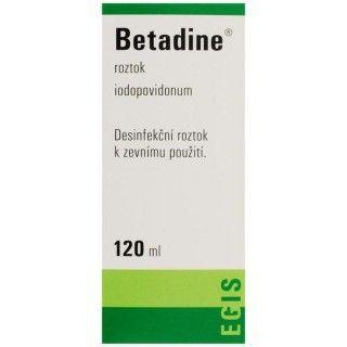 Betadine roztok 120 ml cena od 105 Kč