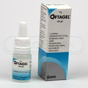 Oftagel gel 10 g cena od 82 Kč