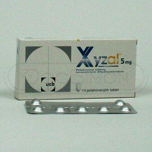 Xyzal 5 mg 14 tablet cena od 109 Kč