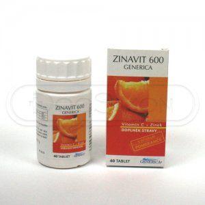Zinavit 600 40 tablet cena od 51 Kč