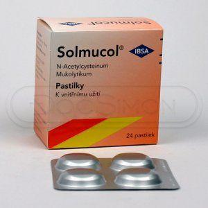 Solmucol 100 mg 24 pastilek cena od 122 Kč