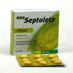 Neoseptolete Citron 1.2 mg 18 pastilek cena od 88 Kč