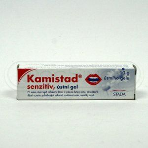 Kamistad Senzitiv gel 10 g cena od 80 Kč
