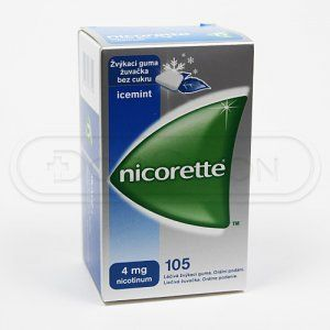 NICORETTE ICEMINT žvýkačky 4 mg 105 ks cena od 608 Kč