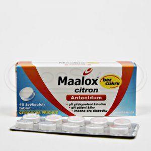 MAALOX CITRON 40 tablet cena od 74 Kč