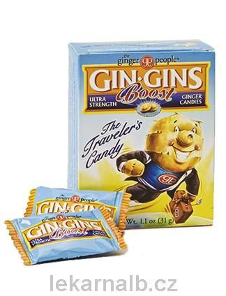 GIN GINS Boost bonbony 31 g cena od 40 Kč