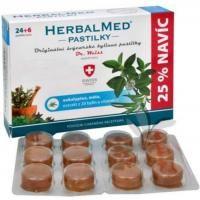 HerbalMed Eukalypt+máta+vitamín C 24 tablet cena od 99 Kč