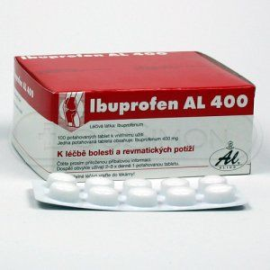 Ibuprofen Al 400 400 mg 100 tablet cena od 68 Kč