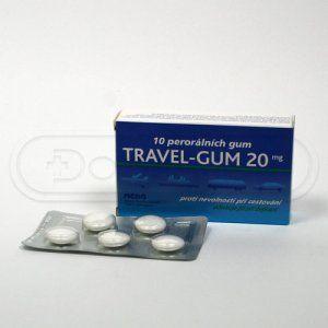 Travel-Gum žvýkačky 20 mg 10 ks cena od 65 Kč
