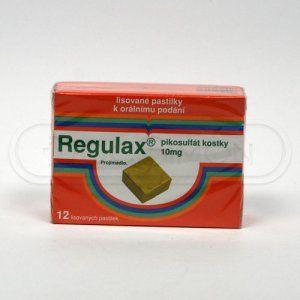 Regulax Pikosulfát 10 mg 12 kostek cena od 75 Kč