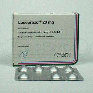 Loseprazol 20 mg 14 kapslí cena od 0 Kč