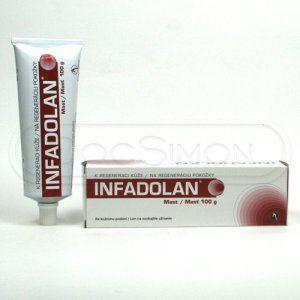 Infadolan mast 100 g cena od 105 Kč